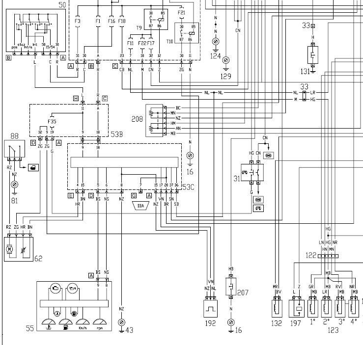 двигатель фиат альбеа 1.4 эл схема