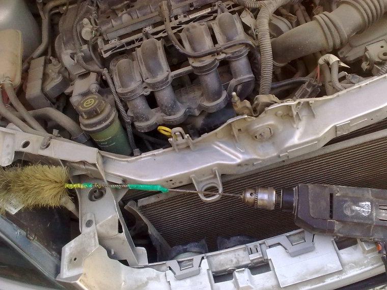 Чистка радиатора форд фокус своими руками 256