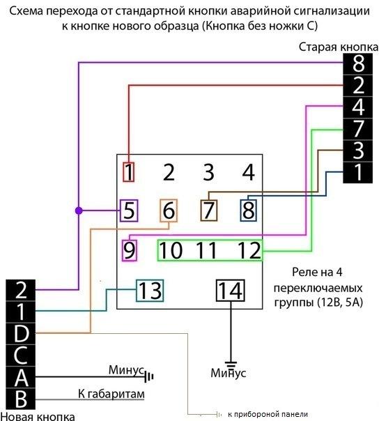 Схема подключения кнопки