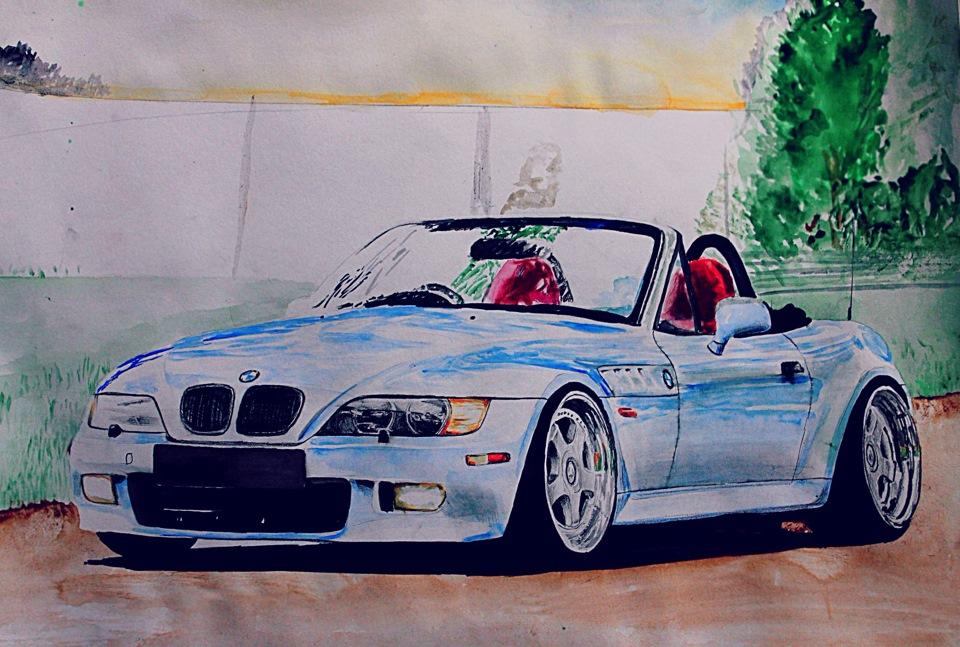 Машина бмв рисунки