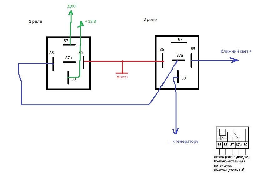 Дхо на ваз 2112 с схема подключения