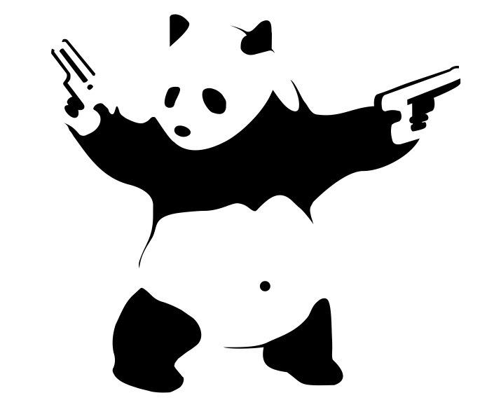 Панда с пистолетом картинки