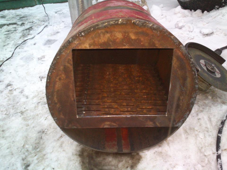 Печь для бани из газового баллона своими руками фото