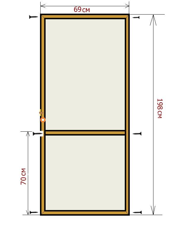 Москитная сетка на дверь своими руками фото 551