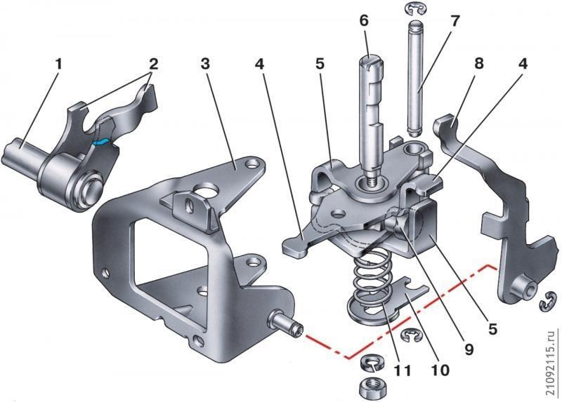 1211 механизм переключения передач