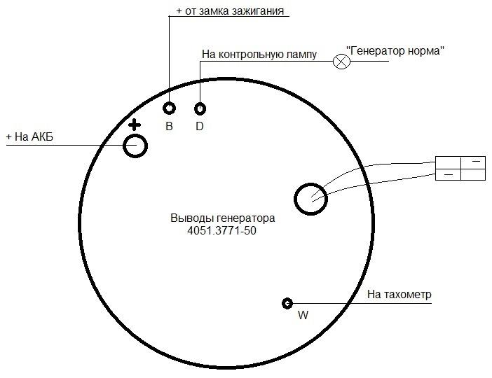Схема выводов 4051.3771-50