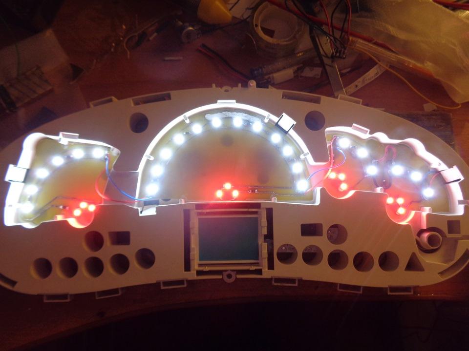 Светодиоды для панели приборов своими руками 18