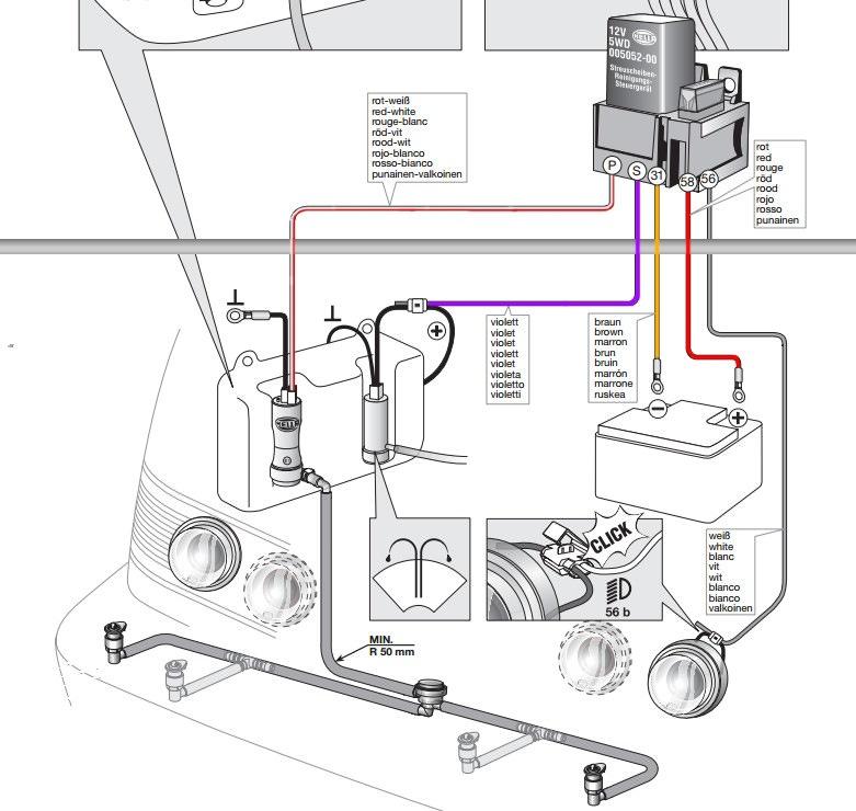 Схема. Прокладка проводов.
