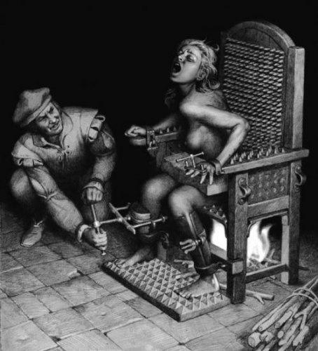 Сексуальные пытки женщин инквизицией