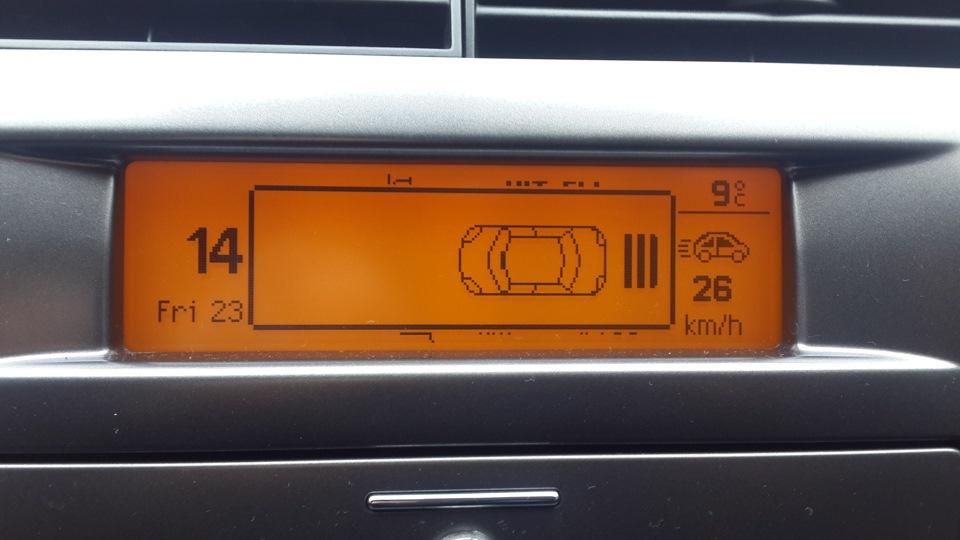 парктроники штатные на ситроен ds 4