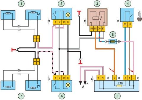 Схема снятия генератора ваз 21102.