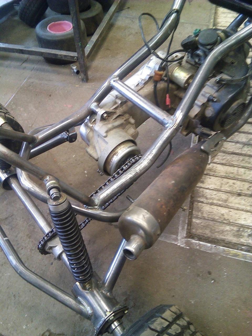 задняя подвеска трицикла фото дыни
