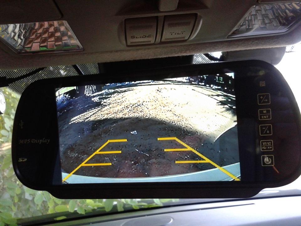 Зеркала заднего вида с монитором и камерой