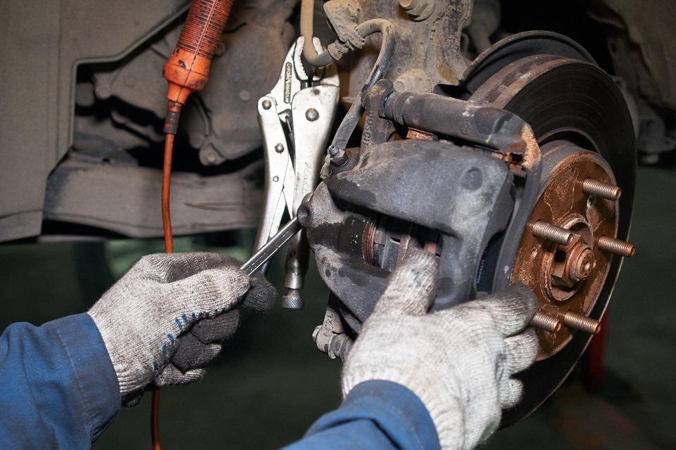 Сборка переднего левого тормозного механизма Honda CR-V