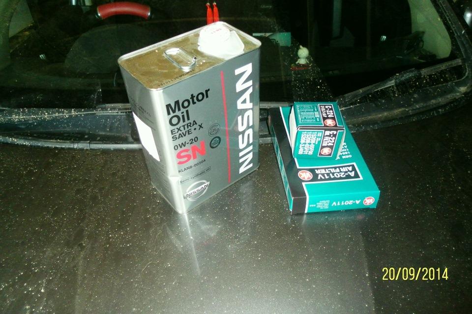 замена масла в двигателе nissan wingroad
