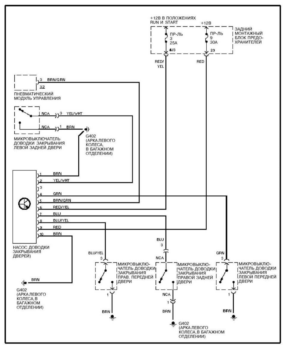 схема предохранителей w140
