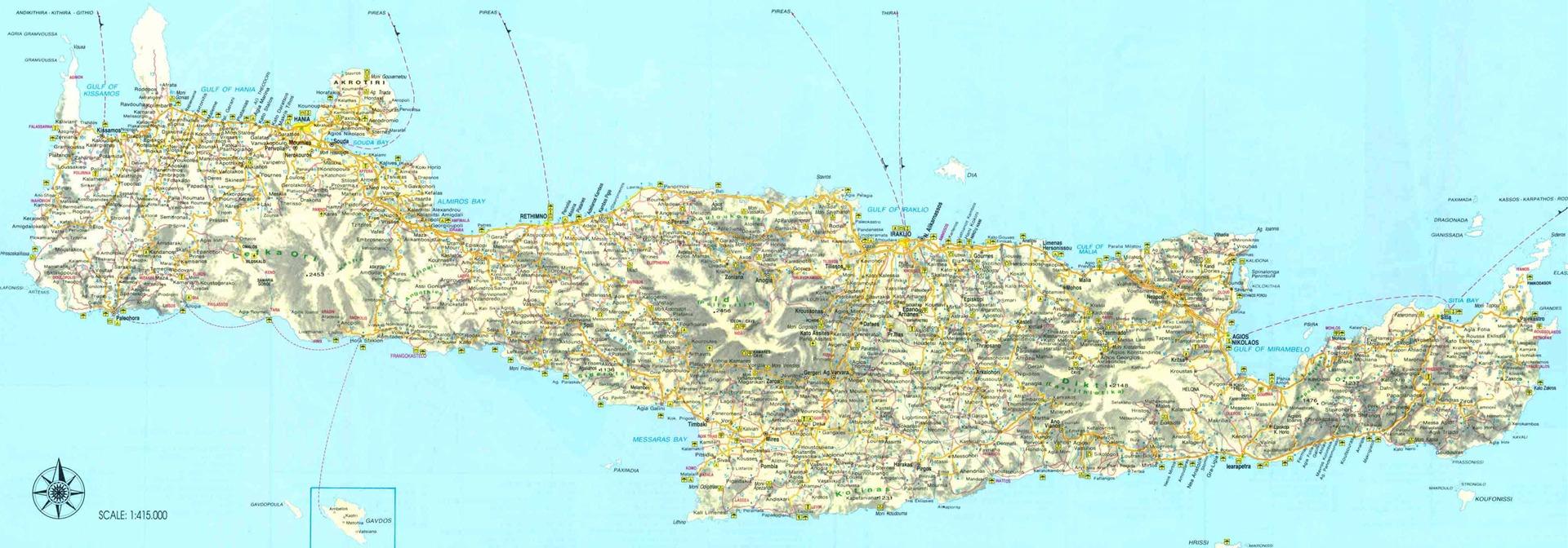 карта пляжей крита с фото может