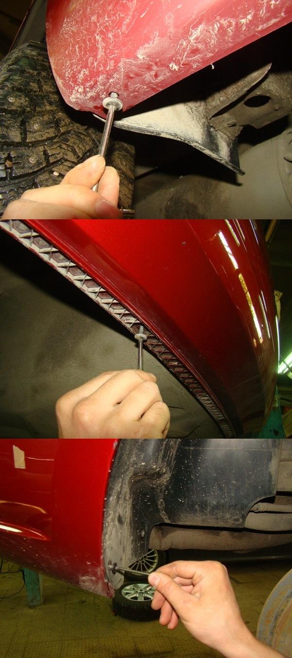 Ремонт ваз 2111 снятие и установка заднего бампера