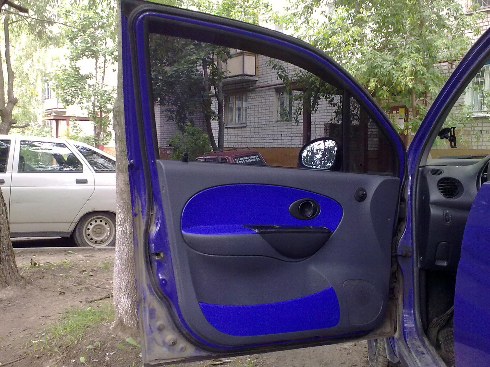 Пластик на двери на матиз