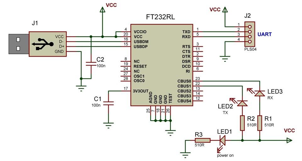 Преобразователь USB-UART на FT232RL (Для конфигурирования ...