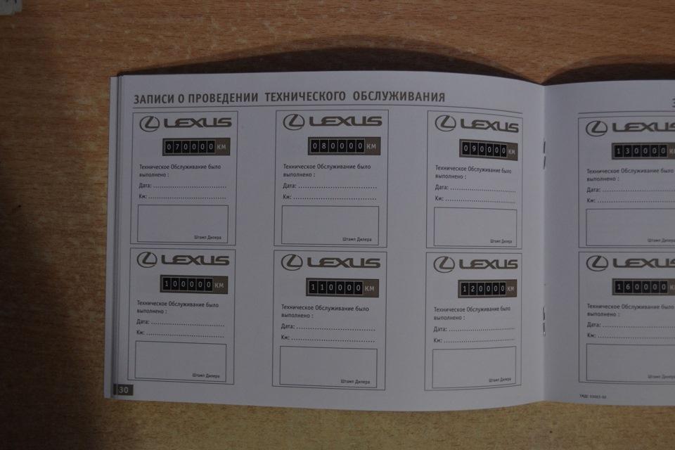Проверить сервисную книжку с отметками