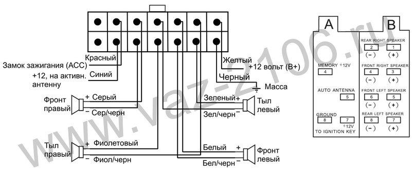 Схема подключения mystery mar 919u