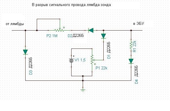 Электронная обманка датчика кислорода своими руками