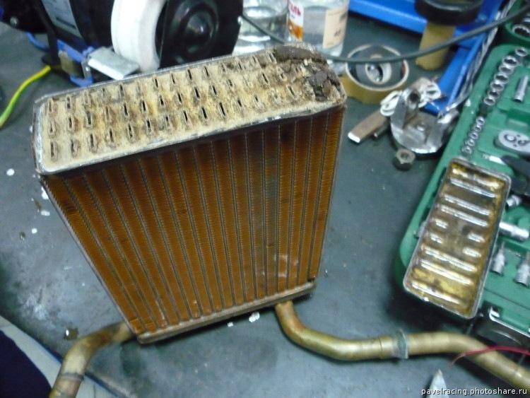 киа спортейдж 2 как промыть радиатор печки