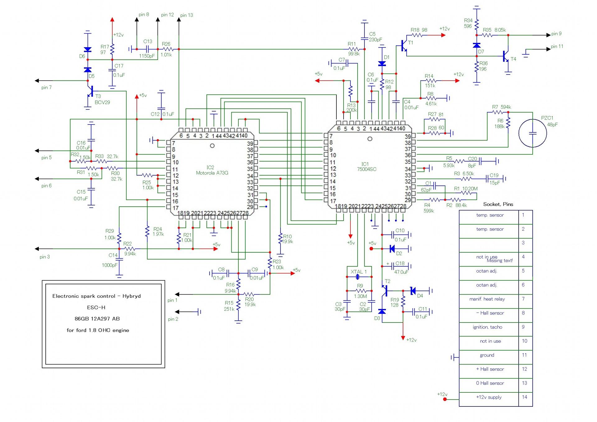 моторкрафт 86gb-12a297-a8 схема
