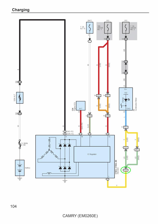Схема электропроводки в toyota ipsum
