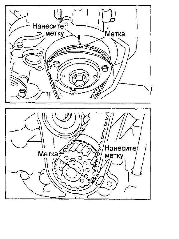 Схема грм на дайхатсу