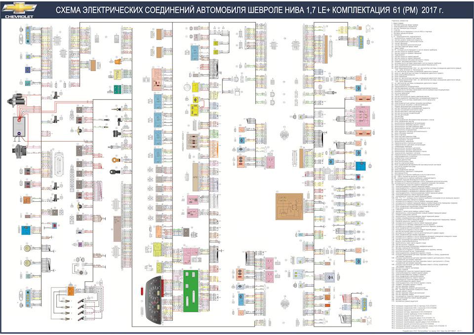 шевроле схема нива 2015 электропроводки