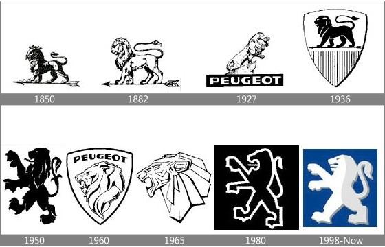 логотип peugeot черно-белый