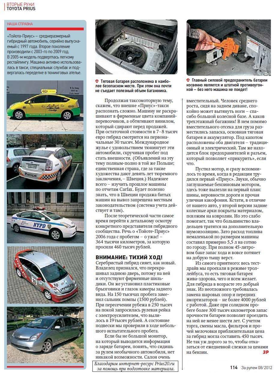 журнал за рулем 2012