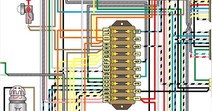 ваз схема 2106 блока предохранителя подключения