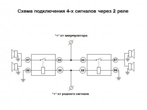 схема подключения 4х