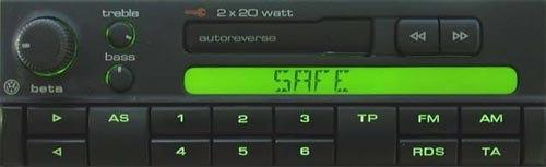 Магнитолы разблокировки калькулятор volkswagen штатной для Код разблокировки