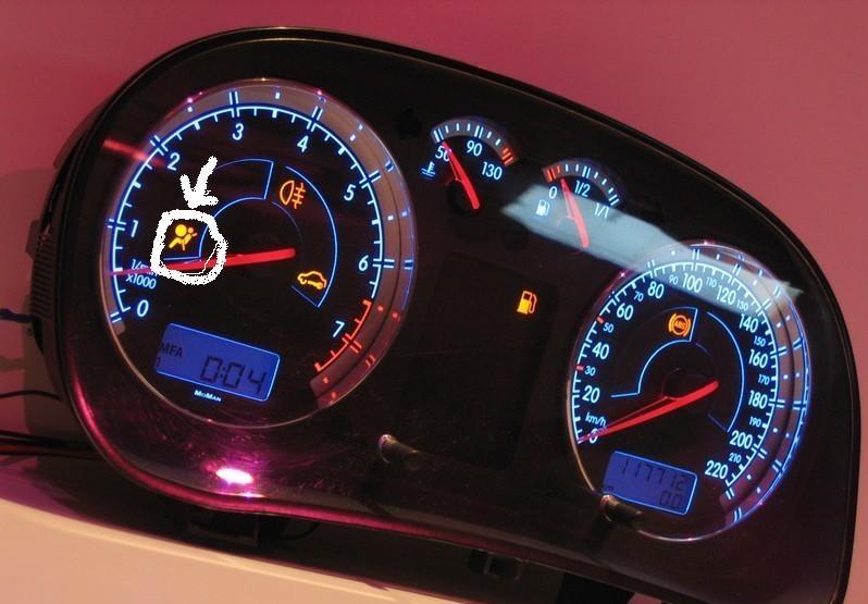 Volkswagen Golf 4 светящиеся шкалы приборов - накладки на циферблаты панели приборов, дизайн 1.
