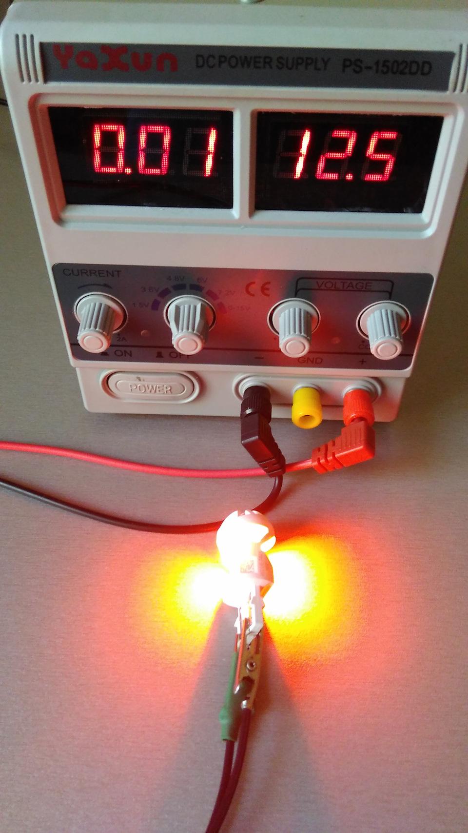 схема стабилизатора в автомобильных светодиодных лампах