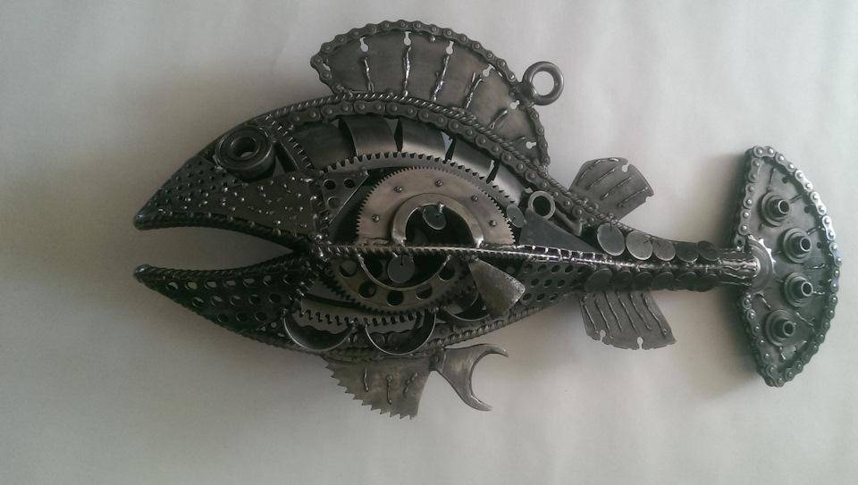 Рыба из металла своими руками 50