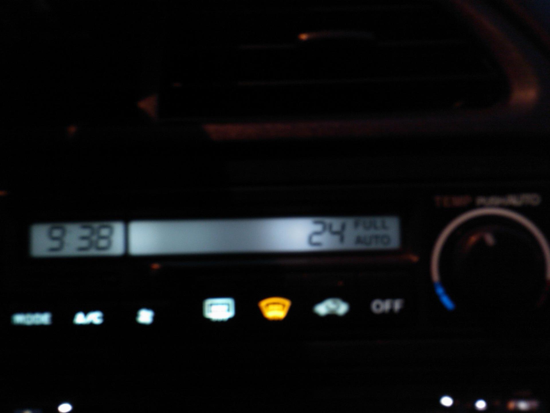 honda accord 1999 поменять лампу подсветка часов