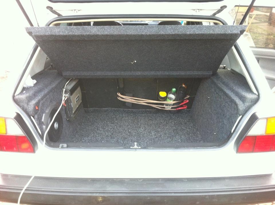 Гольф 2 обшивка багажника своими руками
