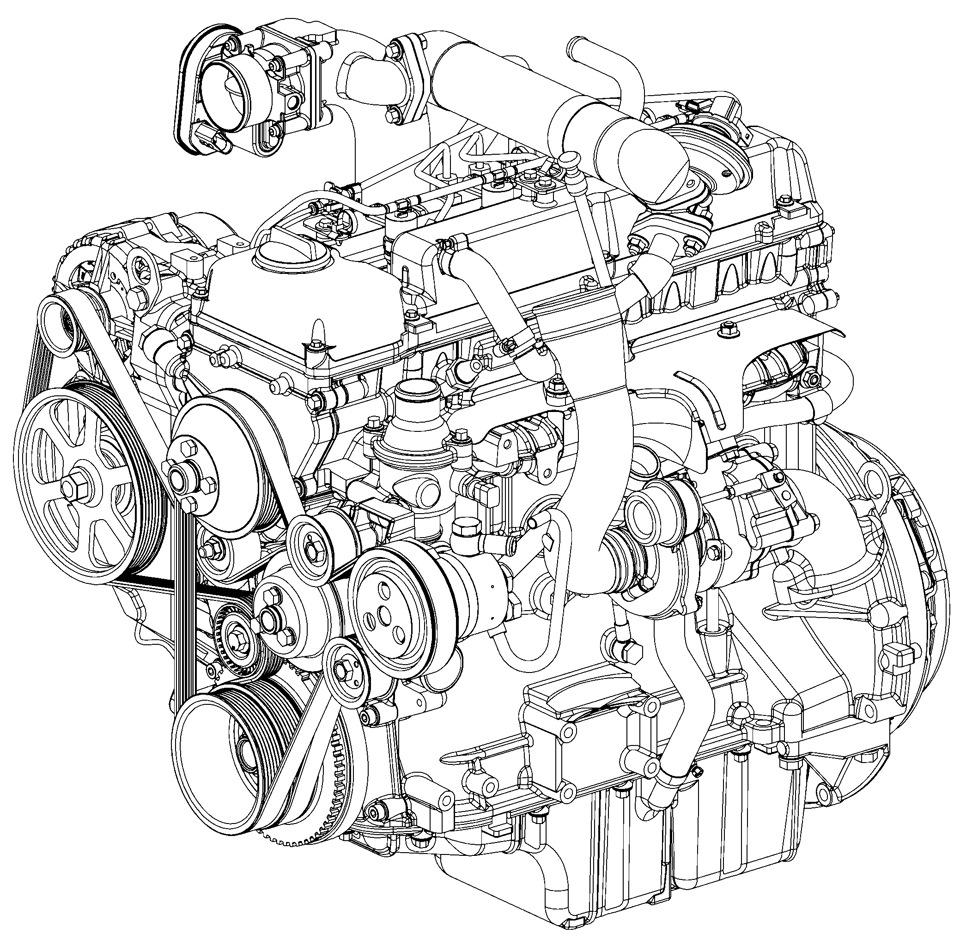 схема установки ремня генератора на штаер 560