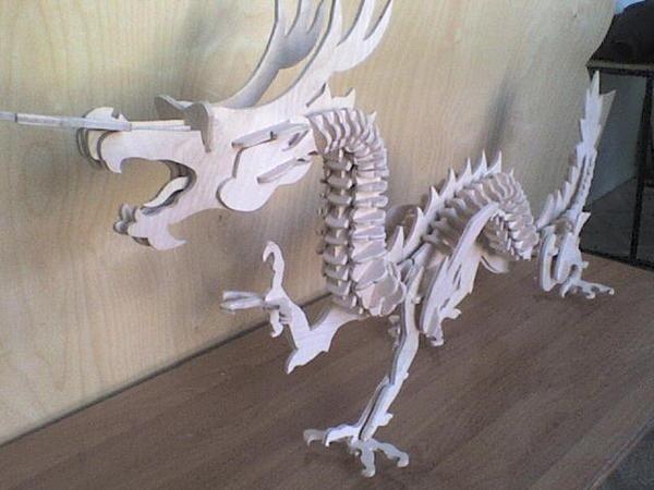Голова дракона из дерева своими руками