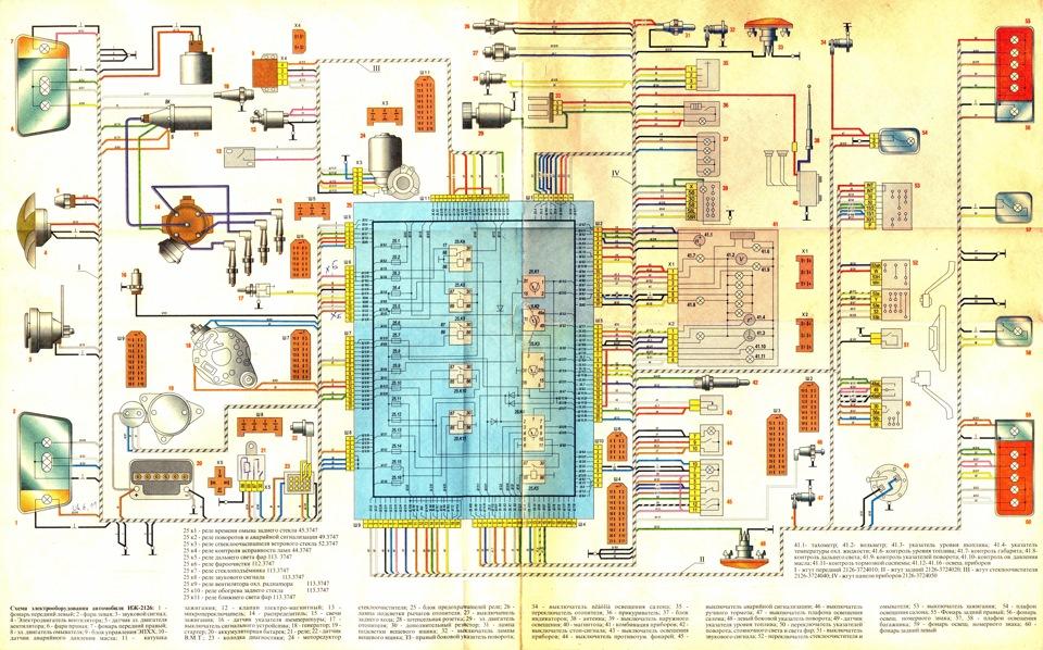 Электрическая схема ИЖ 2126