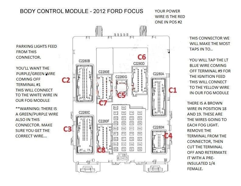 Электросхема Форд фокус 3 хэтчбек