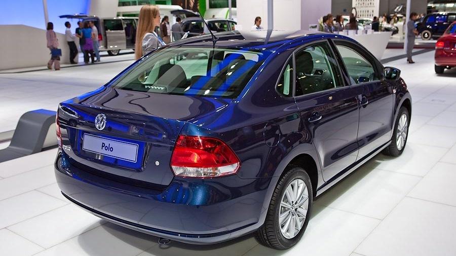 Фольксваген поло седан фото синий