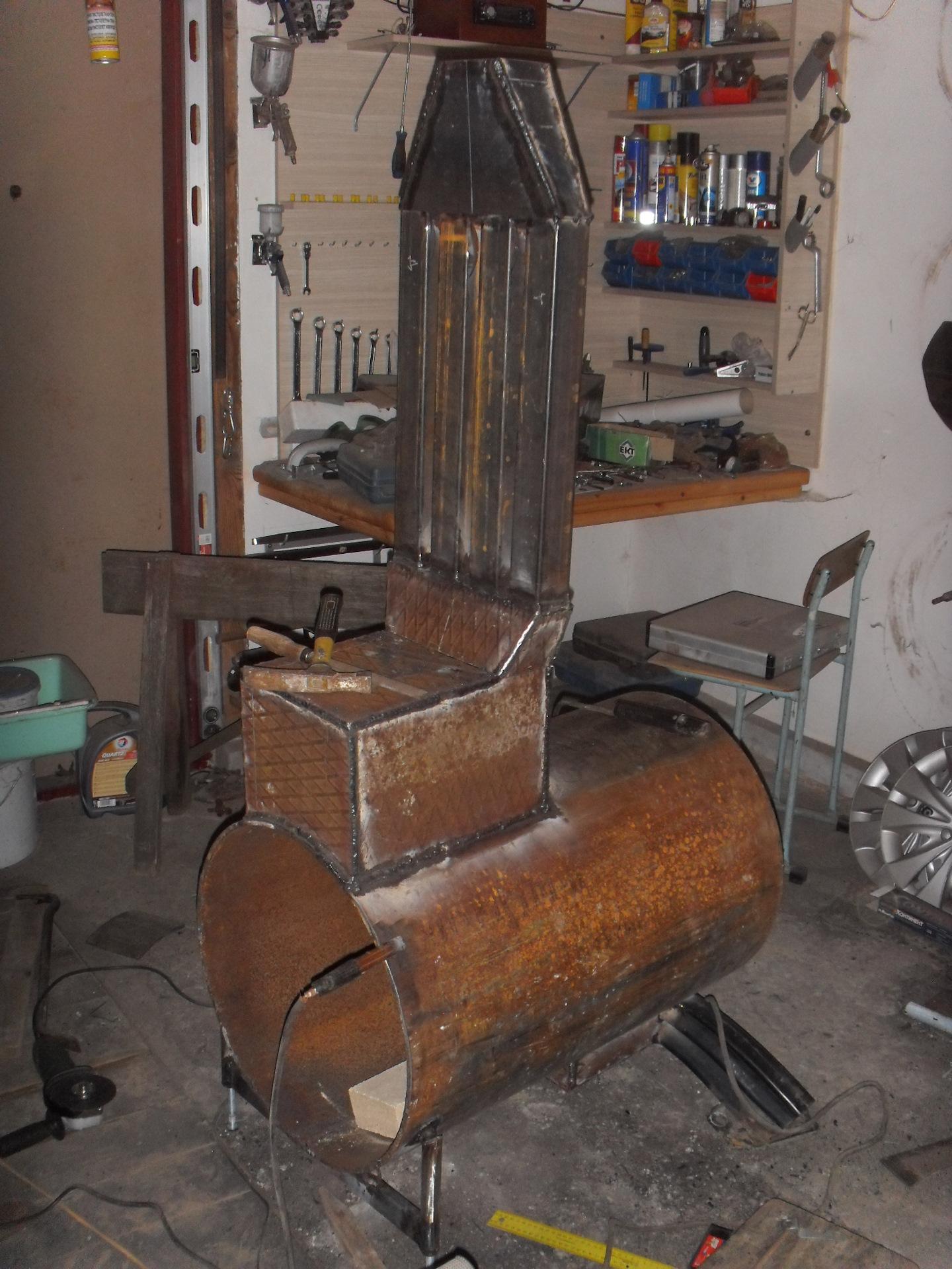 Печка для гаража на дровах