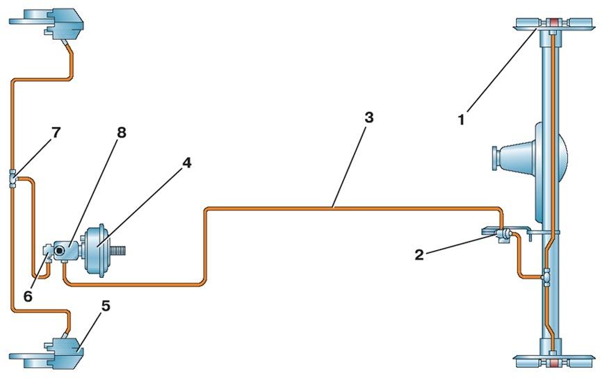 Схема газ 3110 1-я трубка идёт