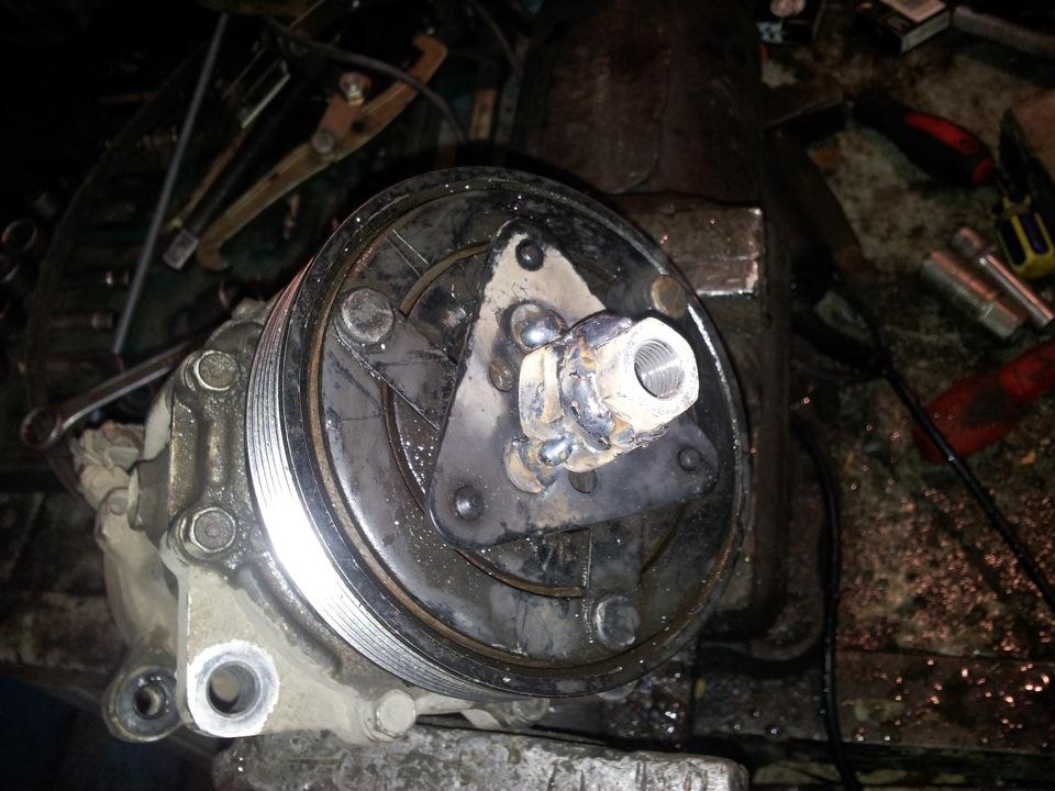 снятие компрессора кондиционера на volkswagen golf 4